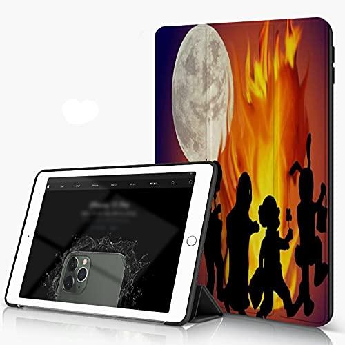 She Charm Carcasa para iPad 10.2 Inch, iPad Air 7.ª Generación,Máscara de Halloween Fire Moon,Incluye Soporte magnético y Funda para Dormir/Despertar