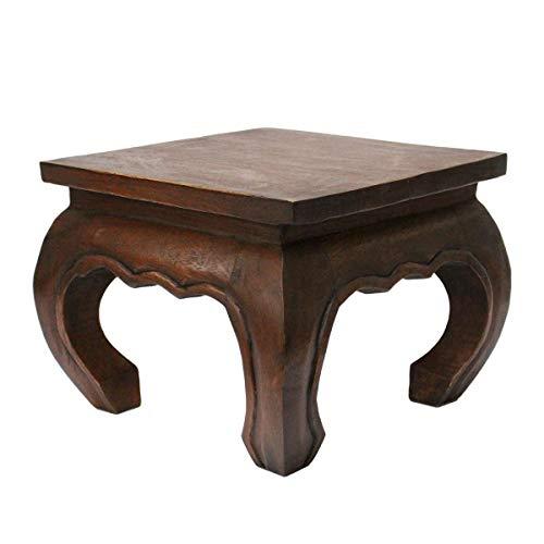 Oriental Galerie Opiumtisch Mahagoni - 40cm Beistelltisch Tischchen Hocker Blumenhocker Akazienholz asiatischer Kleiner Tisch