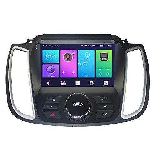 JALAL Android Car Stereo Sat Nav para Ford Kuga 2017-2018 Unidad Principal Sistema de navegación GPS SWC 4G WiFi BT Enlace de Espejo USB Carplay Integrado
