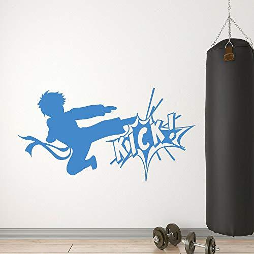 Karate Boy Vinyl Wall Decal Fighting Kick Artes marciales Pe