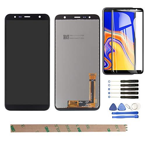 """YHX-OU 6.0"""" Für Samsung Galaxy J4 Plus 2018 J415 SM-J415FN DS Galaxy J6 Plus 2018 J610 J4 Core J410 LCD Display Touchscreen Ersatz Bildschirm mit Kostenloses Werkzeug (Schwarz)"""