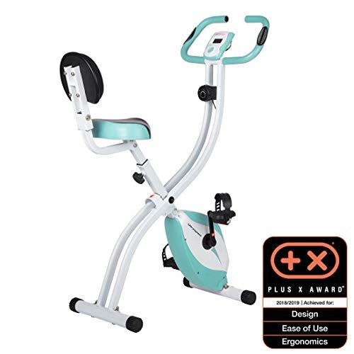 Ultrasport Trainer da Casa F-Bike 200B, Bici da Fitness con Sensori delle Pulsazioni con Schienale Ripiegabile Unisex-Adulto, Blu, Taglia Unica