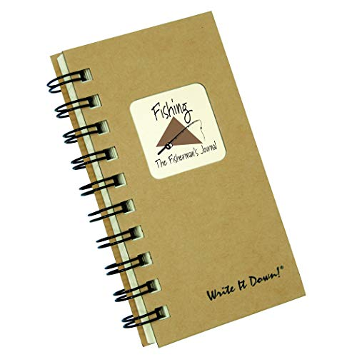"""Journals Unlimited """"Write it Down!"""" Series Guided Journal, Fishing, The Fisherman's Journal, Mini-Size 3�x5.5�, with a Kraft Hard Cover, Made of Recycled Materials Photo #6"""