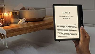 Kindle Oasis, Leselicht mit verstellbarer Farbtemperatur, wasserfest, 32 GB, WLAN, Gold