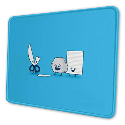 Super schattige grappige papieren schaar stenen muismat padding uniek aangepaste muismat computertoetsenbord grote gaming-muis klopt kantoor ideaal voor bureauafdekking van PC en laptop