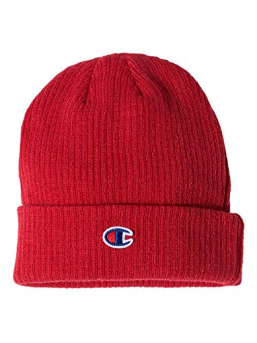 Champion - Ribbed Knit Cap - CS4003 - One Size - Red Scarlet