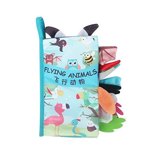 VODVO Libro del bebé Suaves del paño Libros for recién Nacidos 0 12 Meses Juguetes for bebés Soft Educativo Libro Suave del bebé Juguetes Montessori Juguetes for los niños (Color : Flying Animals)