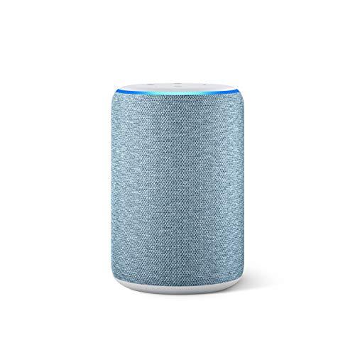 Amazon Echo (3ª generazione) Ricondizionato Certificato, Altoparlante intelligente con Alexa, Tessuto blu-grigio