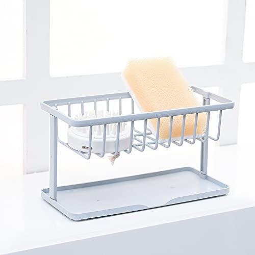 WLMT Estante de Fregadero de plástico Estante de Drenaje de Drenaje de Doble Capa para la Esponja de jabón Vajilla Organizador de Almacenamiento Baño Accesorio de Cocina (Color : 3)