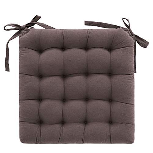 NoNo Basic Sitzkissen,Stuhlkissen mit Bändern - für Innen- und Außenbereich geeignet,Sitzpolster Auflage für Haus und Garten - 2 Stück-...