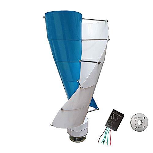 TQ 400W Vertical Spiral Wind Turbine-Generator, 12V / 24V Mehrfarboption With600w Laderegler