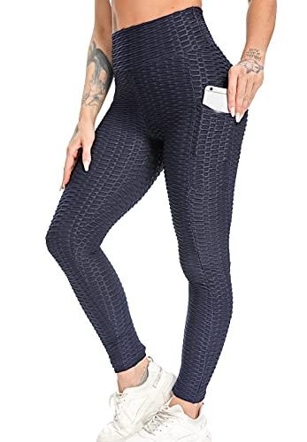 FITTOO Legging Sport Avec Poches Latérales Femme Pantalon Slim Anti-Cellutite Taille Haute...