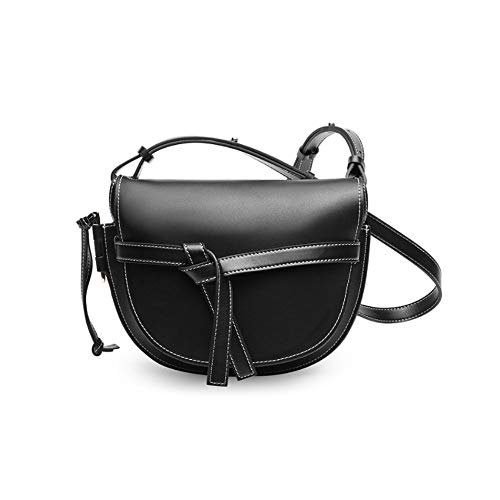 Damen Handtaschen mit Schultergurt PU Leder Damen Tasche Umhängetasche Einfache und großzügige Mode Wild Corner Elegante tragbare Lagerung Geeignet für die Arbeit, Einkaufen,Black