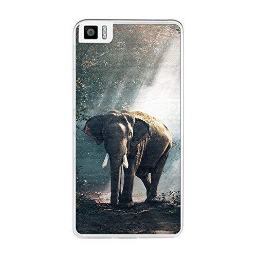 Tum&osmartphone Hülle Gel- TPU Hülle Für bq aquaris M5.5/M 2017 Design Muster - Elefant