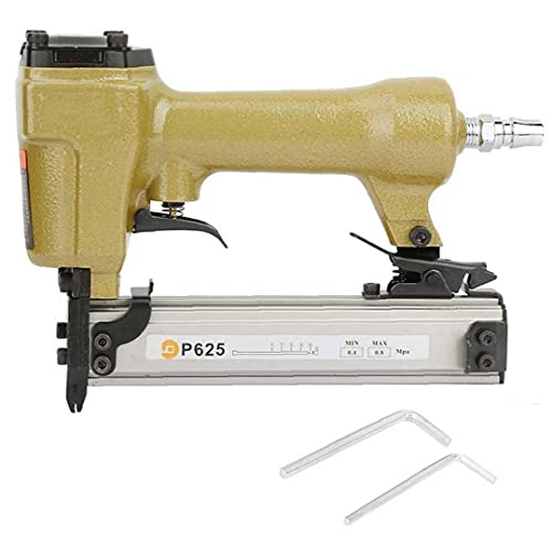 LAANCOO Aire Pin Clavadora Grapadora neumática P625 10-25mm Clavo de la Herramienta...