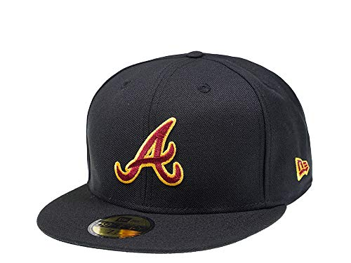 ERA New Atlanta Braves Black and Red Edition 59Fifty Fitted Cap - MLB Kappe (718)