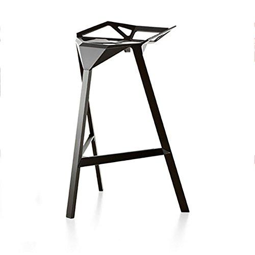 XUEPINGBTd geometrisch design 3 hoeken ondersteuning 3 kleuren Nordic kleine hotels persoonlijkheid creatieve klap eenvoudige metalen front barkruk