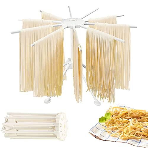ConBlom - Tendedero plegable para pasta fresca, 10 barras portátil para pastas,...