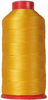 Threadart Heavy Duty Bonded Nylon Thread - 1650 yards (1500m) - Coated No Unravel - #69 T70 Size 210D/3 - For Upholstery, Leather, Vinyl, Weaving Hair, Denim, and Other Heavy Fabric - 26 Colors Available - Orange