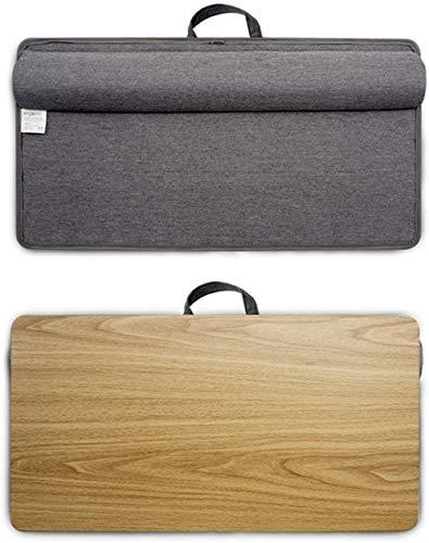 Teclados multifuncional escritorio de regazo con asa portátil de madera para coche, bandeja para cuadernos en la cama y el sofá, se adapta a portátiles de hasta 15 y 6 pulgadas, tamaño grande B