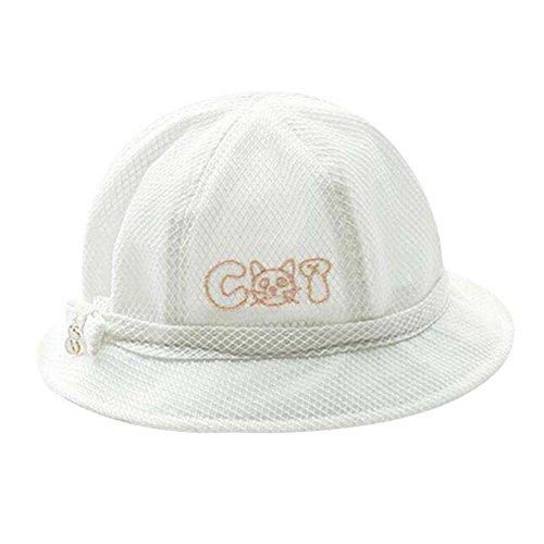 White Lovely Sunhat Grand cadeau chapeau de plage pliable chapeau d'été chapeau de coton chapeau de