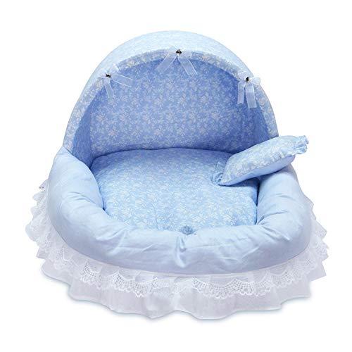 ANXINJIA Luxus Prinzessin Haustier Bett, Bequeme Hundekorb mit Kissen, niedlichen Katzenbett, Welpenkissen, Sofa, Hundehaus Nest, Schlafkissen Nest