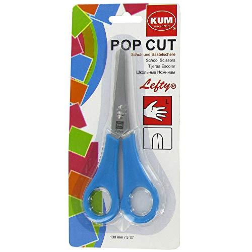KUM AZ905.05.12 - Linkshänderschere, Pop Cut Lefty, blau, 1 Stück