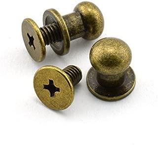 Round Multicolor,8mm Diameter Head 200pcs Mini Brad Fasteners Round Bottom Stud Bag Feet Acrylic Rhinestones Spike Nailheads Brad for Craft Stamping Scrapbooking DIY Tool