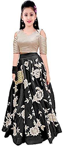 Buy Shreeji Fashion Girls Satin Velvet Semi Stitched Lehenga Choli At Amazon In