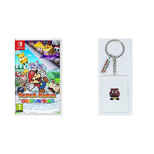 Paper Mario: The Origami King + Llavero Goomba