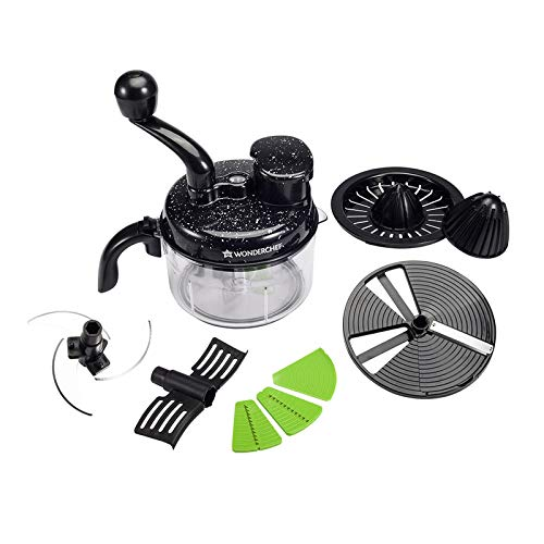 Wonderchef Turbo Chopper and Citrus Juicer, Black
