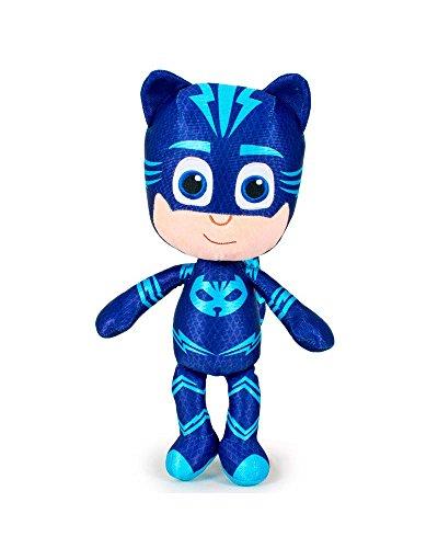 PJ Masks Super Pigiamini 5962 Peluche, 34 Centimetri, Blu, Gattoboy, Geco, Gufetta (Gattoboy)