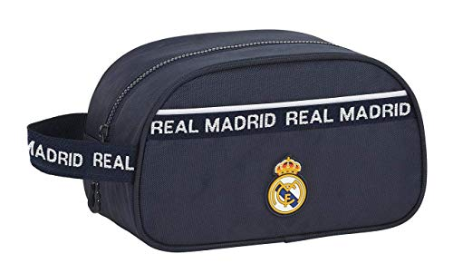 safta 812034248 Real Madrid CF Neceser, bolsa de aseo adaptable a carro 26x15x12Cm, multicolor