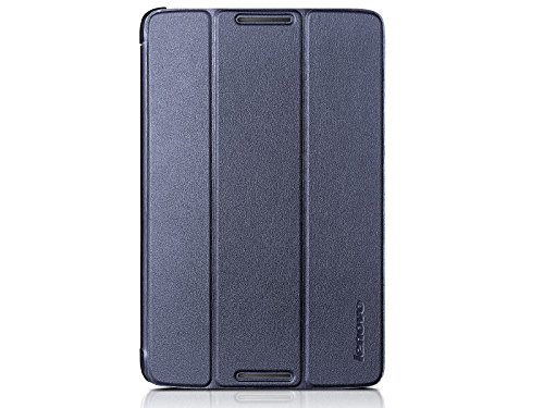 LEVOVO Ultra Slim Stand PU Case for Lenovo A8-50 8 Inch Tablet PC + Screen Protector blue dark blue
