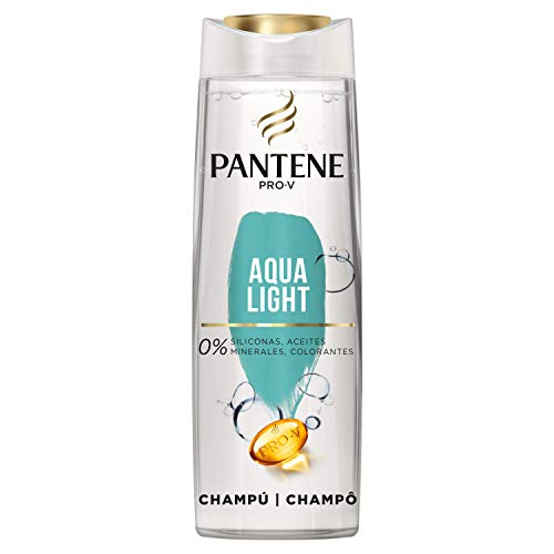 Pantene Pro-V Aqua Light Champú, Nutrición sin Apelmazamiento, 360 ml