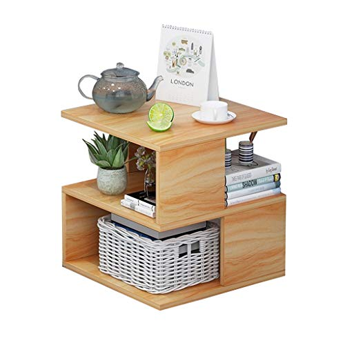 LiRuiPengBJ Side Table Wooden Coffee Side Table, Multi-level Storage Space Living Room End Table, Overbed Table For Home, Office, Private Club Corner table (Color : Style1)