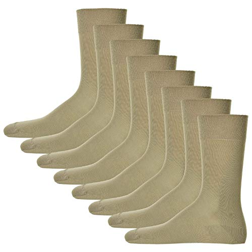 Hudson 8 Paar Herren Socken, Relax Cotton Strumpf, ohne Gummifäden (8x 1 Paar) (Leinen (0748), 41-42 (8 Paar))