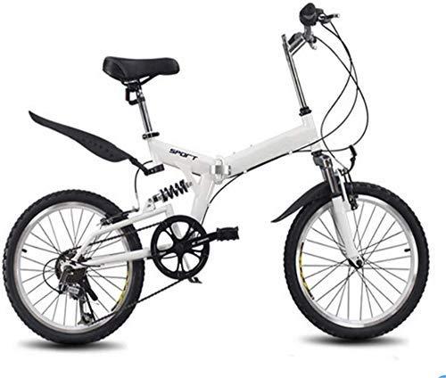 HAOT 20 Zoll Faltrad 6 Variable Geschwindigkeit Fahrrad Rennrad Kinder Mountainbike Tragbares leichtes Faltrad