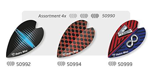 Unbekannt BULL'S Retro & Retro Mini Dart Flights Set diverse Farben 100 Micron