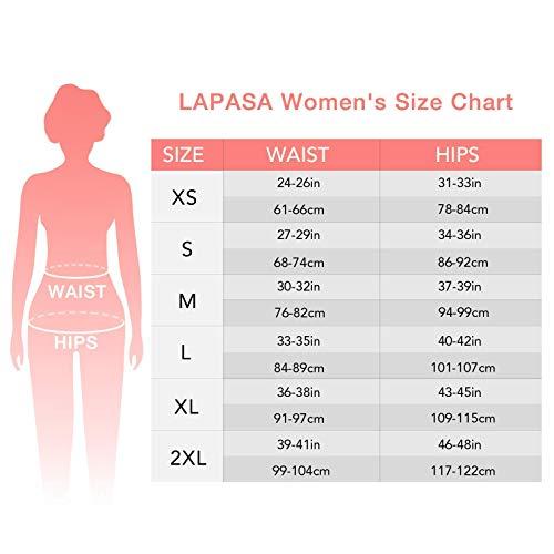 LAPASA Donna 3/4 Capri Leggings Sportivi Con Tasche Laterali Pantaloni Per Yoga Allenamento Palestra L37&L38 (Large, 04.Rosso super opaco(Tasche laterali) 2)