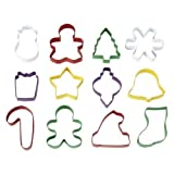 Wilton 12 Christmas Holiday Shapes Cookie Cutters