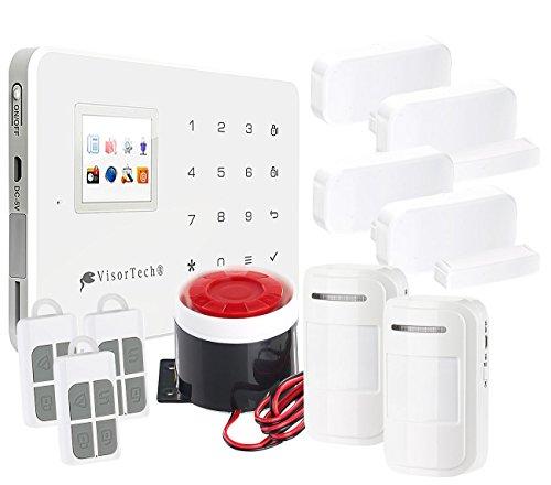 Funk-Alarmanlage mit WLAN- & GSM-Anbindung, 11-teiliges Starter-Set