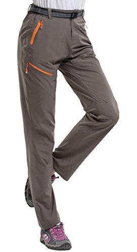 Geval Pantalon de randonnée Extensible Respirant à séchage Rapide en Plein air pour Femmes M Kaki Profond