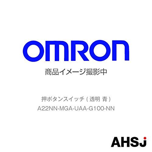 オムロン(OMRON) A22NN-MGA-UAA-G100-NN 押ボタンスイッチ (透明 青) NN-