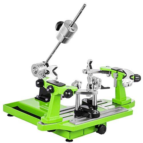 VEVOR Tennis Besaitungsmaschine Tischtennisschläger Tennis Stringer Schläger Besaitungswerkzeuge Kurbel Besaitungsmaschine Aufspannmaschinen Tragbarer Werkzeuge Set(Grün)