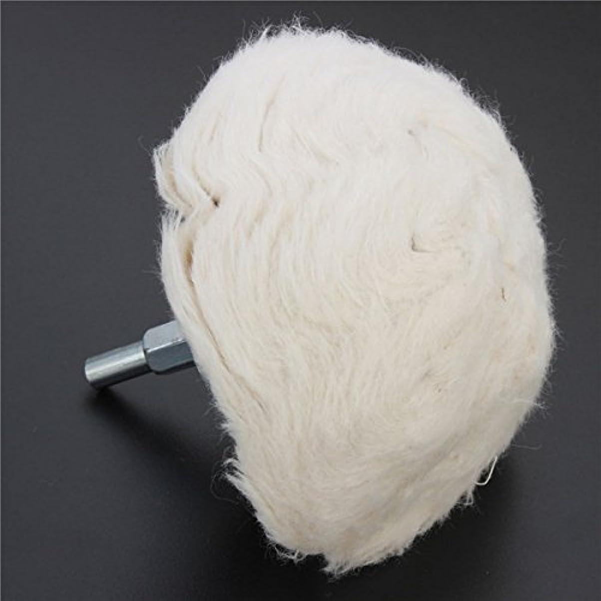 舞い上がる感性検出Queenwind 100mm の綿のドームの磨く車輪のモップを回転式用具のためのホイルで磨きなさい