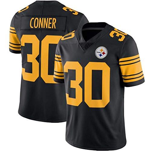 NBJBK NFL Trikot Steelers # 7 19# 30# Conner 55# 50# 90# Fußball Trikot Kurzarm Sport T-Shirts,G,XXL