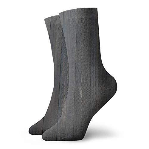 Calcetines suaves de longitud media de pantorrilla, textura de valla de madera, textura rústica, superficie de madera de roble, calcetines para mujeres y hombres, ideales para correr