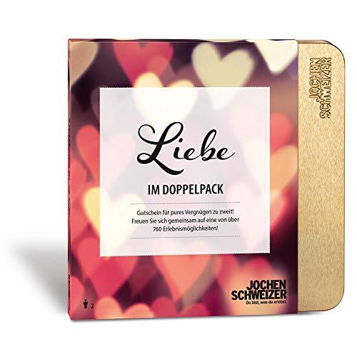 Jochen Schweizer Erlebnis-Box Liebe im Doppelpack, über 760 Erlebnisstandorte, Pärchen Geschenk, Partner Geschenk, Geschenk Freundin
