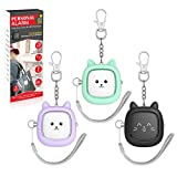 Safe Sound Personal Alarm,3 Pack130 dB Loud Siren Song Emergency Self-Defense Security Alarm Keychain with LED Light, Personal Sound Safety Siren for Women, Men, Children, Elderly (Black/Purple/Green)